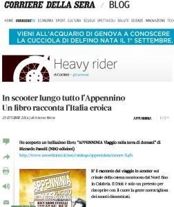 Recensione Appenninia su www.corriere.it