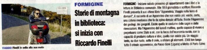 Appenninia su Prima pagina Modena